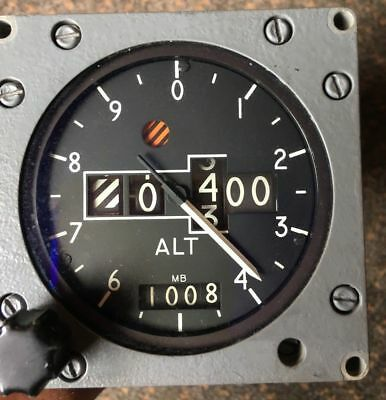 EX RAF Aircraft Smiths counter pointer altimeter 10000 Ft - 50000 Ft