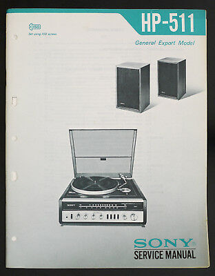 SERVICE MANUAL FOR Sony STR-GX511 Receiver, Original