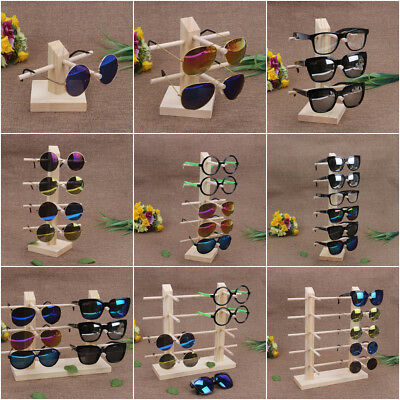 Wooden Glasses Sunglasses Frame Display Show Stand Holder Rack Shop Counter
