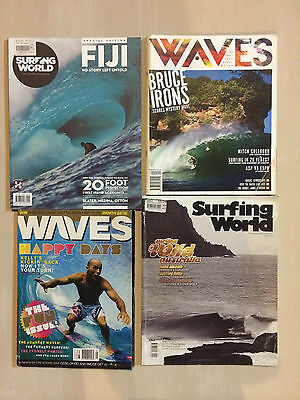 SURFING WORLD and WAVES MAGAZINES x 4