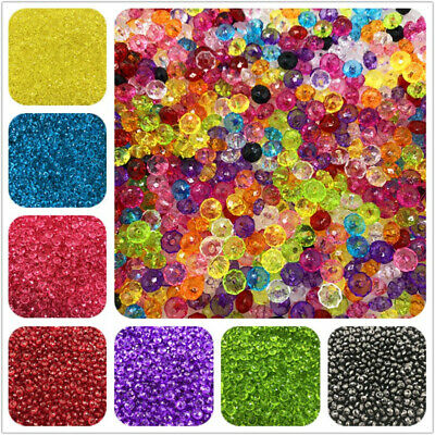6mm 8mm 10mm 12mm Austria Faceted Crystal Acrylic Loose Beads DIY Jewelry Making