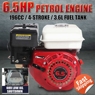 6.5HP 196CC 4-Stroke Petrol Stationary Engine Motor OHV Recoil Start Air-Cooled