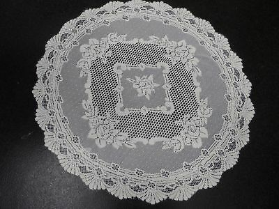"""Table Cloth 36"""" Round Cream Polyester Lace Victorian Flower Pattern  £7.79 Each"""