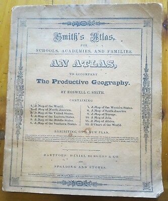 1835 Smith's Atlas for Schools, Academies and Families, Complete,