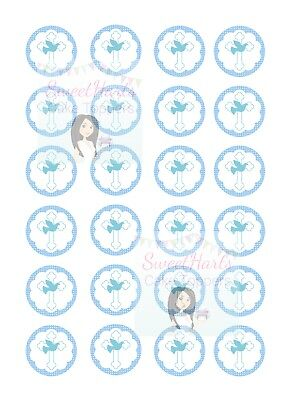 Holy Communion Cupcake Toppers X24 Edible Fairy Cake Decorations Confirmation B