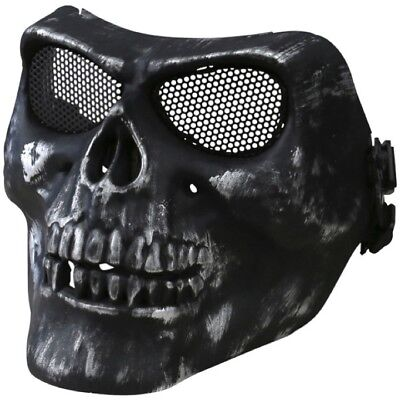 Half Face Skull Mask Hard Shell Protective Shield Airsoft Paintball Halloween