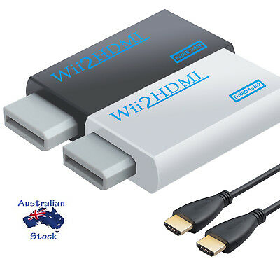 720P/1080P Wii to HDMI Converter 3.5mm Wii HDMI Adapter Audio HD Video Output AU
