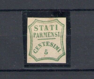 1859 PARMA Government Temporary 5 Cent verde Blue I composition n° 12 MLH