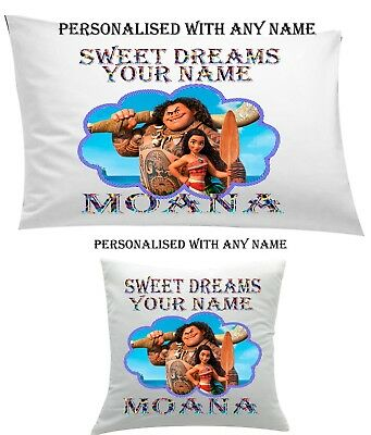 #Moana Personalised #Pillow Case Cushion, Cover, Protector, Bedding Personalized