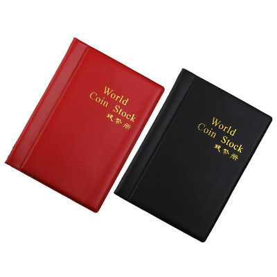 2pcs Leather Paper Money Collection Album 60 Pockets Note Book Holder #B