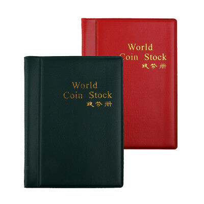 2pcs Leather Paper Money Collection Album 60 Pockets Note Book Holder #A
