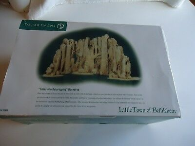 Department 56 little town of Bethlehem Limestone outcropping backdrop NIB