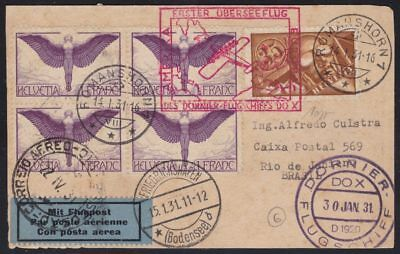 1931 Swiss/swiss/switzerland, Dornier Do-X Rare Air Letter