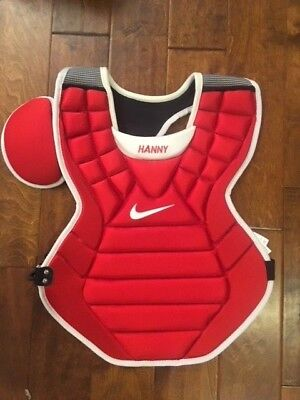 "Nike Adult Pro Gold Precision Catchers Chest Protector 17"" Red, Blue"