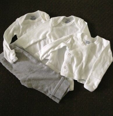 Mixed Lot Of Gender Neutral Newborn Clothing Items