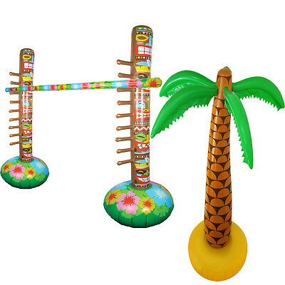 Inflatable Limbo Game + Palm Tree Hawaiian Decoration Summer Beach Pool Party