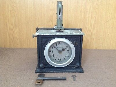 "Vintage  ""blick"" Universal Time Recorder Clock."