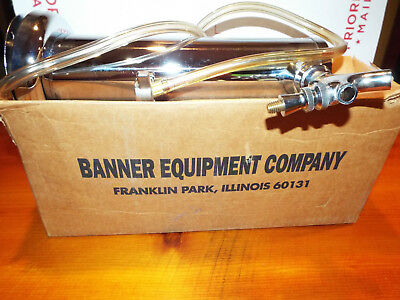 """New In Box Banner Single Beer Kegerator Tower Bright Chrome Tap 3"""" X 12"""" 831-3K"""