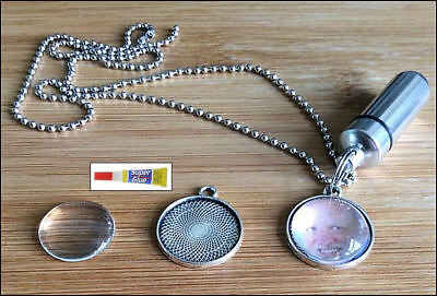Cremation Jewellery Ashes Urn w Photo Frame Kit Keepsake Memorial Necklace