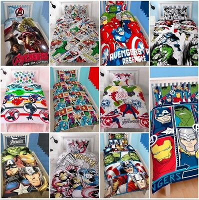 Marvel Comics Avengers Single Double Bedding Set Duvet Superheroes