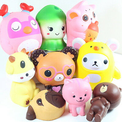 Jumbo Squishy Squeeze Colourful Toy Stress Reliever Aid Gift Mobile Straps Charm