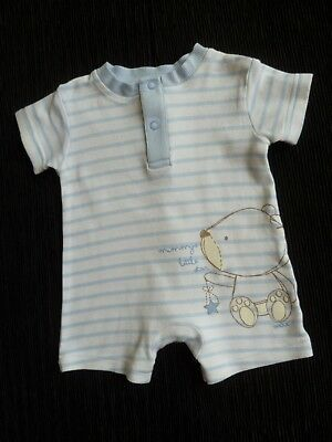 Baby clothes BOY newborn 0-1m outfit romper Max bear blue/white stripe SEE SHOP