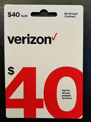 $40 Verizon Prepaid Monthly Refill