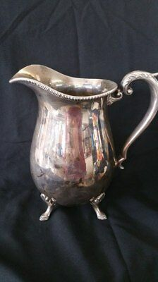 Vintage Crescent Silver Co. Footed Water Pitcher  Marked