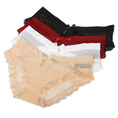 Womens Sexy Underwear Seamless Panties Knickers Satin Bowknot Thong Briefs Lot