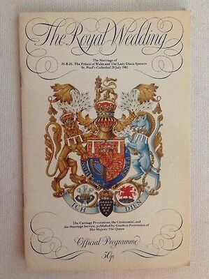 PRINCESS DIANA PRINCE CHARLES ROYAL WEDDING OFFICIAL PROGRAM 1981 + Free DVD