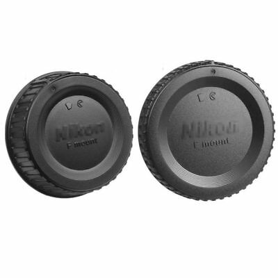 Camera Body Cover + Rear Lens Caps for Nikon F mount AI AF AF-S DSLR Camera