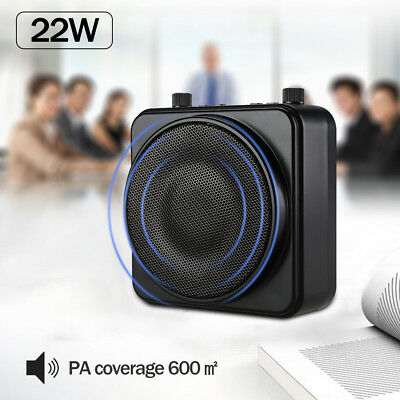 AKER 22W Output Power PA Voice Amplifier Booster LoudSpeaker + Wired Microphone