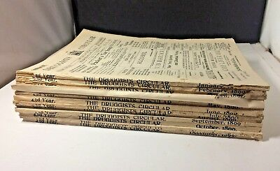 1899 Jan. - Dec.12 Issues Druggists Circular Chemical Gazette Pharmacy Magazine