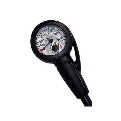 "Aeris 5000 PSI Air Pressure Gauge for Scuba Diving w/32"" Hose and Boot Dive 5K"