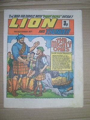 Lion issue dated September 11 1971