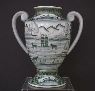 Rare Antique Chinese Qing Dynasty Porcelain Vase With Qianlong Seal Reign Mark