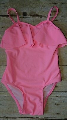 Old Navy Toddler Girl's One 1-Piece Swimsuit Pink Ruffled 3T