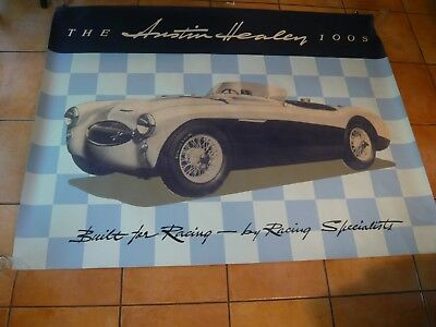 Austin Healey 100S Motor Room Billboard 6 Feet by 4 1/2 Feet