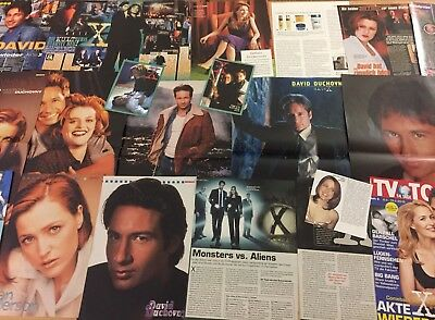 AKTE X  ❤️ SCULLY ❤️ MULDER ❤️ Sammlung 50+ ❤️ LOT / CLIPPINGS ❤️