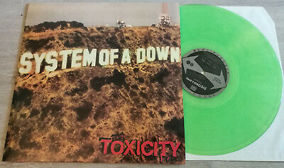 System Of A Down -- Toxicity -- green LP, vinyl scars on broadway, slipknot