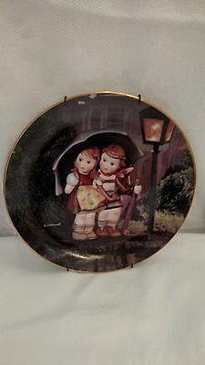 "MJ. Hummel ""Stormy Weather"" Collector Plate By The Danbury Mint 1989 MBI"