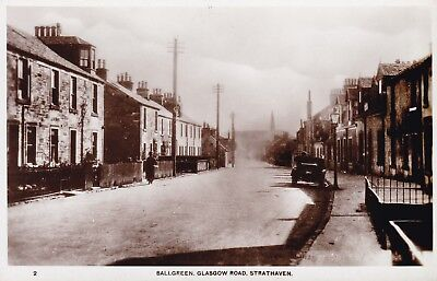 Strathaven - Ballgreen, Glasgow Road - Real Phto With Old Car By Holmes