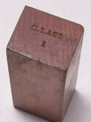 "C.L. Co Vintage Industrial Foundry Wood ~4.5"" Spacer Mold Pattern Steampunk M27C"