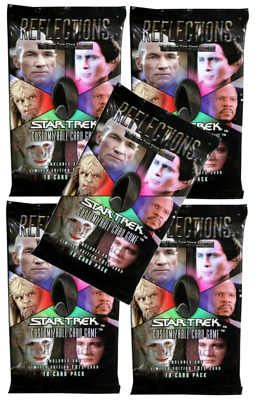 5x Star Trek CCG Reflections 1 Foil Per Limited Edition Booster Packs FREE SHIP