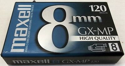 New Sealed Maxell 8mm Metal Particle GX-MP 120 Minute Video Tape - Free Shipping