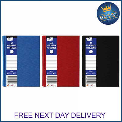 A5 Hardback Lined Notebook, Note Pad, Stationary, School Books
