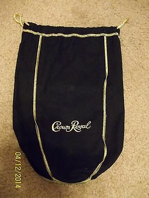 CROWN ROYAL BLACK Large Half Gallon 1.75 ml Bag~NEW