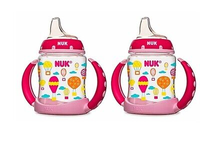 NUK Silicone Spout Learner Cup, 5-Ounce, 2 Pack (Damaged Packaging)
