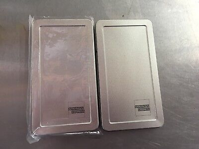 25 American Express Silver Metal Check Trays Check Presenters TNCP