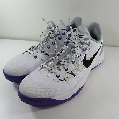 7fa68312bc92 Nike Kobe Venomenon 4 IV Basketball Low 635578-100 Men Size 13 White Purple